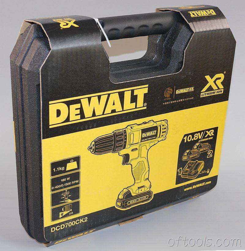 1、得伟(DEWALT)DCD700CK2-A9工具箱