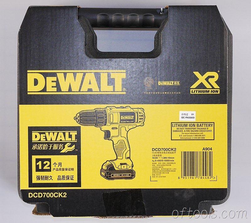 2、得伟(DEWALT)DCD700CK2-A9工具箱