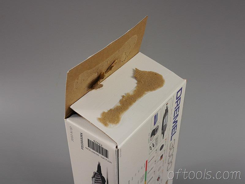 6、琢美(DREMEL) 3000 N10 电磨机包装盒只能硬拆