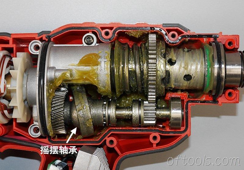 10、大有5401-Li-20RH无刷锂电锤结构特写