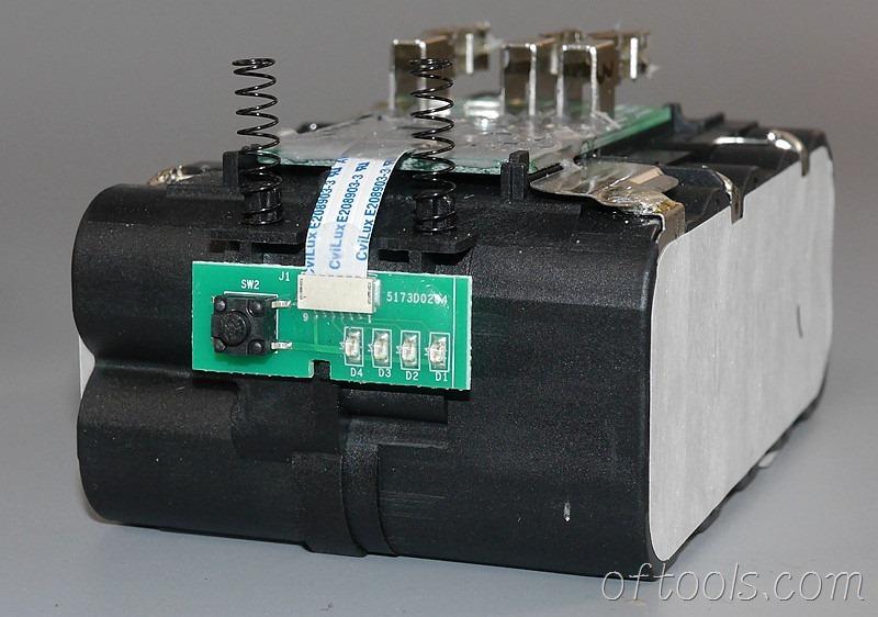 12、大有5150-LI-20-52 20v 5.2Ah电池包电量显示灯板