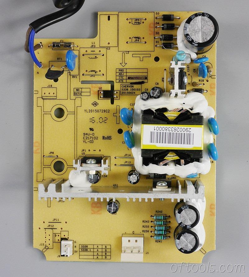 14,大有5401锂电锤充电器5340的电路板正面