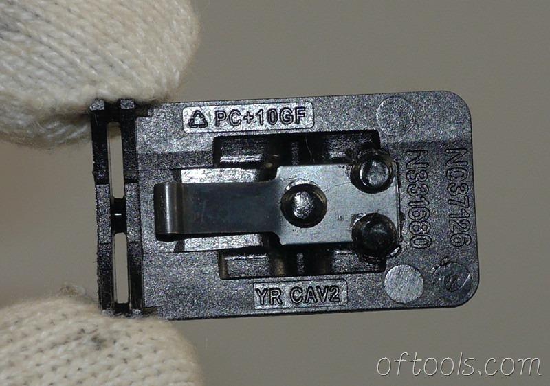 16、得伟(DEWALT)DCD700 锂电钻换档开关反面特写