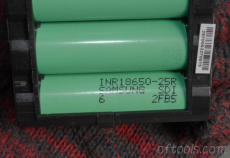 17、大有5150-LI-20-52 20v 5.2Ah电池包使用INR18650-25R动力电池