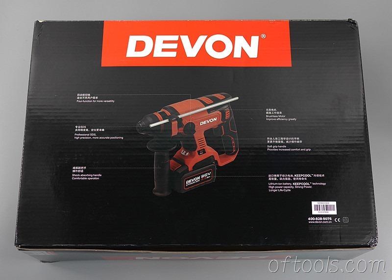 4、大有5401 20v锂电锤盒子背面是结构说明