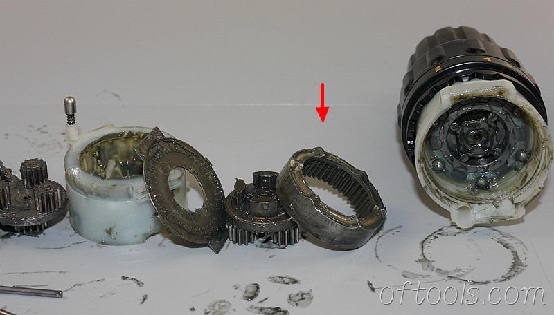 52、取出环形齿轮圈,这个齿轮圈会实现力矩 调节