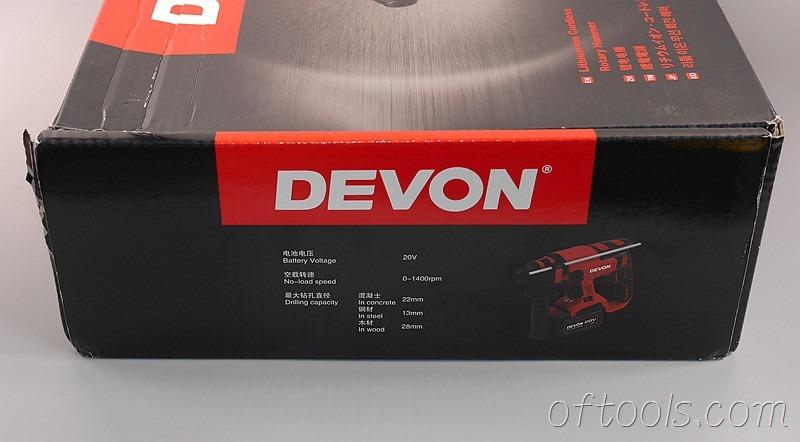 5、大有5401 20v锂电锤盒子侧面是产品参数