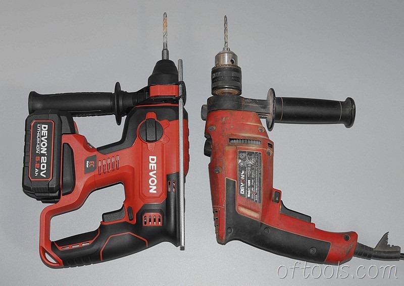 63、大有5401 20V锂电锤与1509冲击钻对比