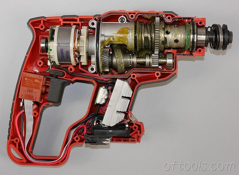 9、大有5401-Li-20RH无刷锂电锤结构展示