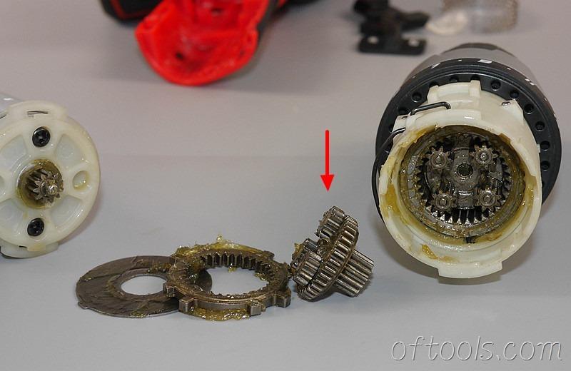 33、大有(devon)5262 12V锂电钻的第一级行星减速齿轮