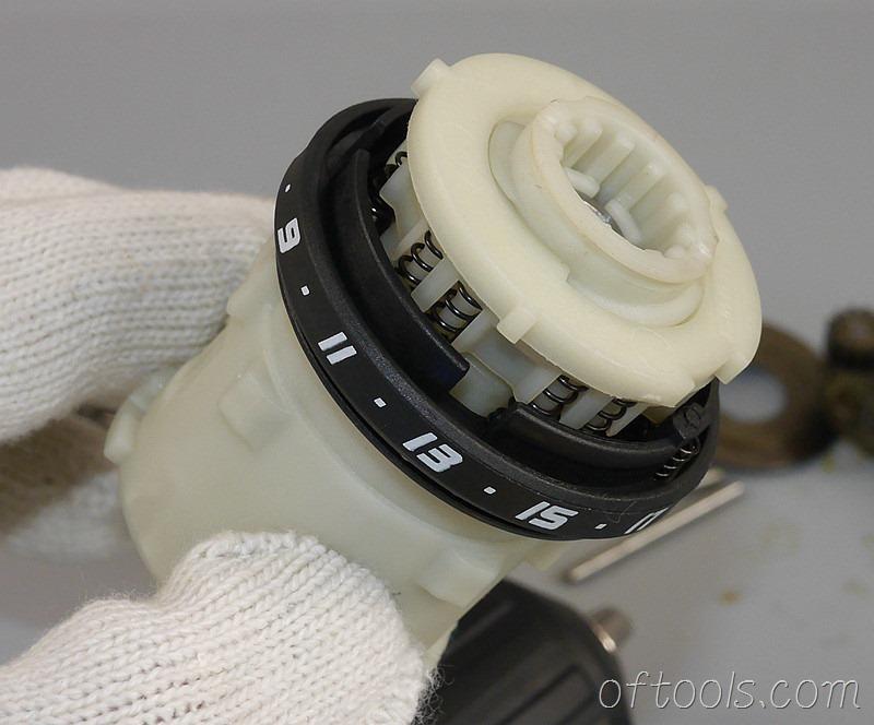 4、取下扭矩调节环就可以看到内部是一个压力调节机构