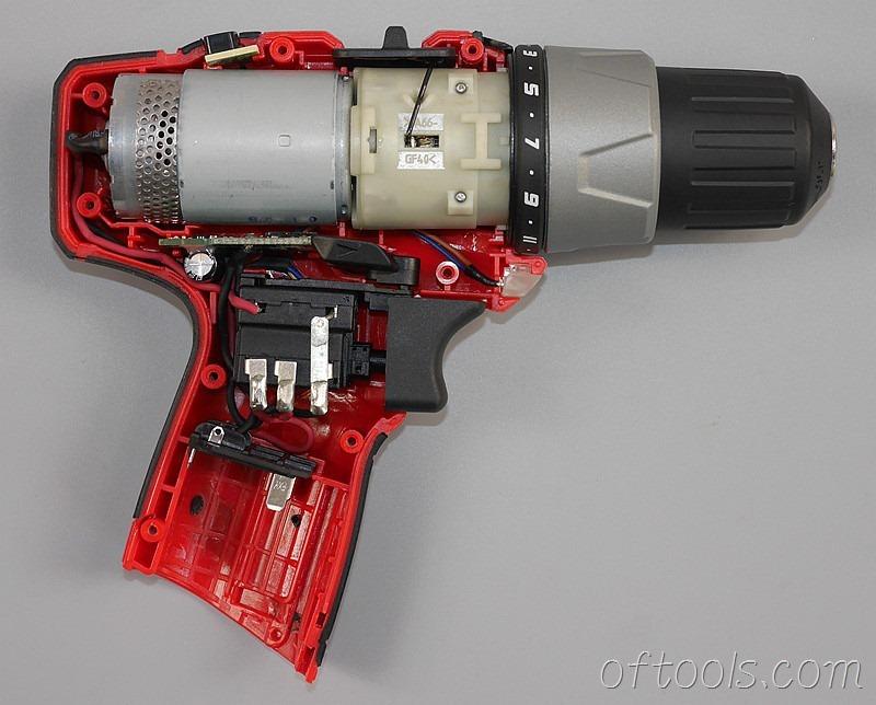 5、大有(devon)5262 12V锂电钻内部结构特写
