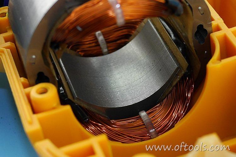 20、得锐0025冲击钻定子硅钢片特写
