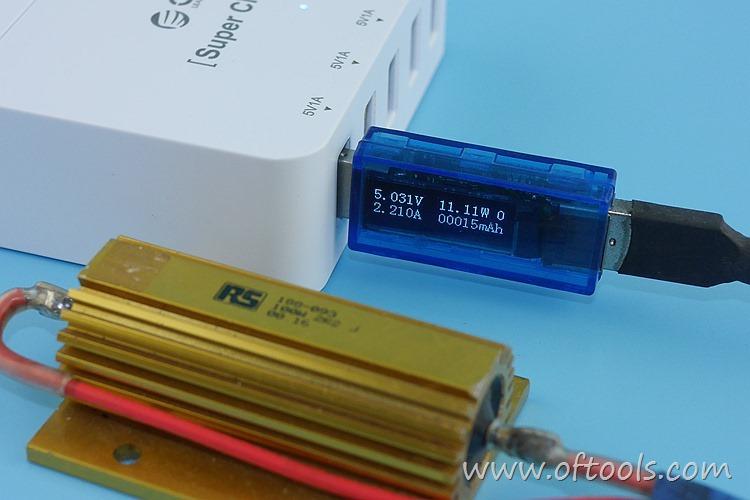 23、ORICO HPC-4A5U 智能插座 5个USB口输出都能过2A