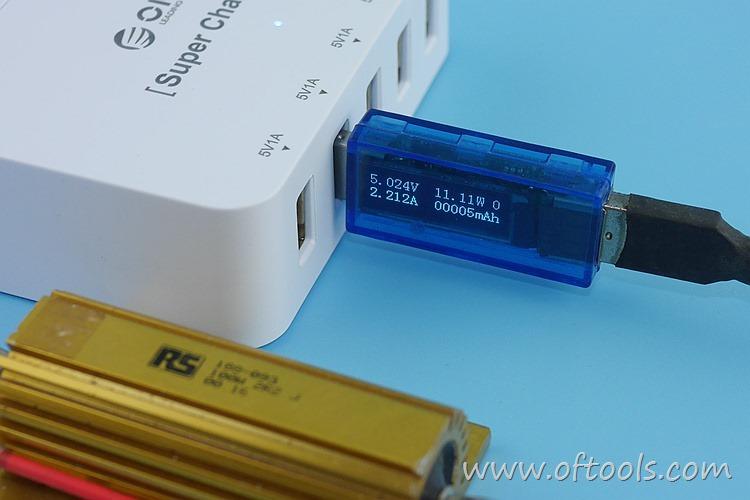 24、ORICO HPC-4A5U 智能插座 5个USB口输出都能过2A