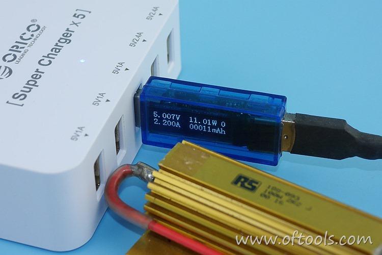25、ORICO HPC-4A5U 智能插座 5个USB口输出都能过2A