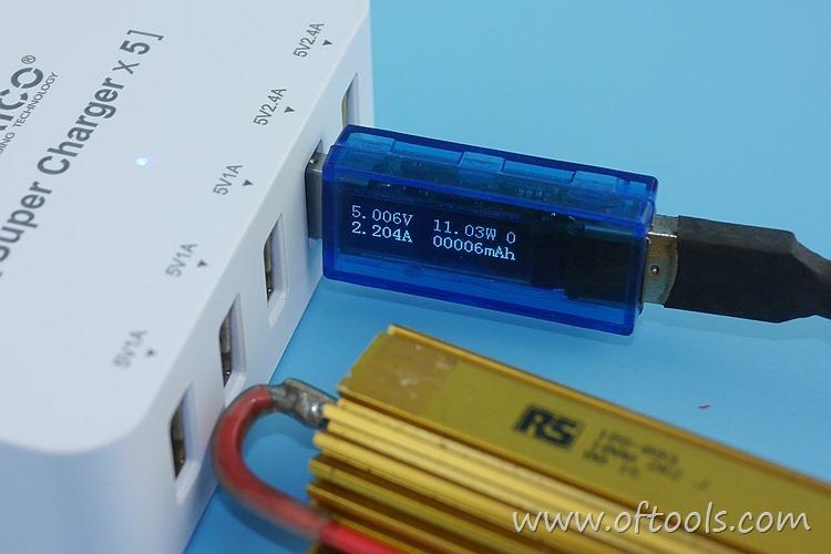 26、ORICO HPC-4A5U 智能插座 5个USB口输出都能过2A