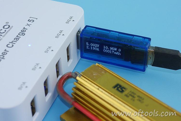 27、ORICO HPC-4A5U 智能插座 5个USB口输出都能过2A