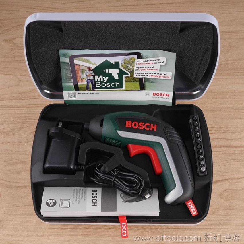 3、博世bosch IXO锂电起子铁盒装开箱