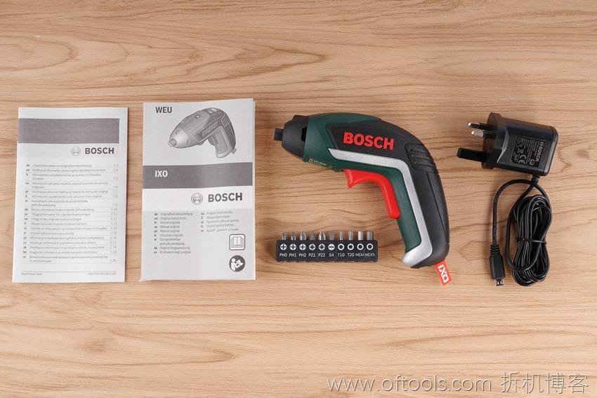 4、博世bosch IXO锂电起子铁盒装全部配置